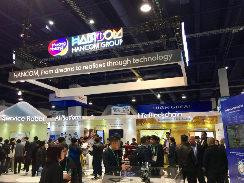 Hancom Booth at CES 2020